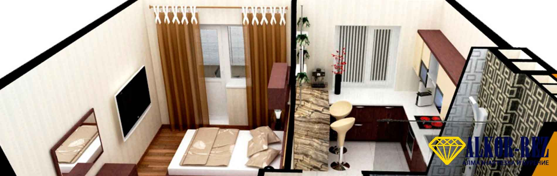 Как сделать из 1к кв 2х комнатнуюРемонт однокомнатной квартирыИз однушки двушкаРемонт квартир спб